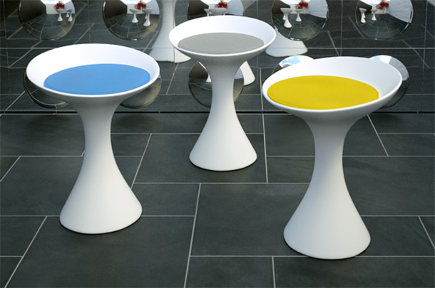 Kale stools by Living Divani.