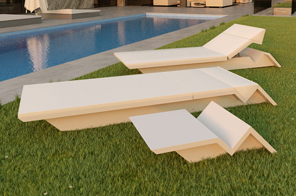 Rest sun lounger by Vondom