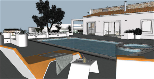 Early Sketchup model of my Portuguese villa project
